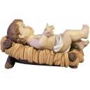 Profilo di Gesù Bambino con culla - cm.12 - B0354-CRIB