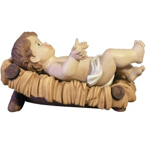 Gesù Bambino con culla - cm.23